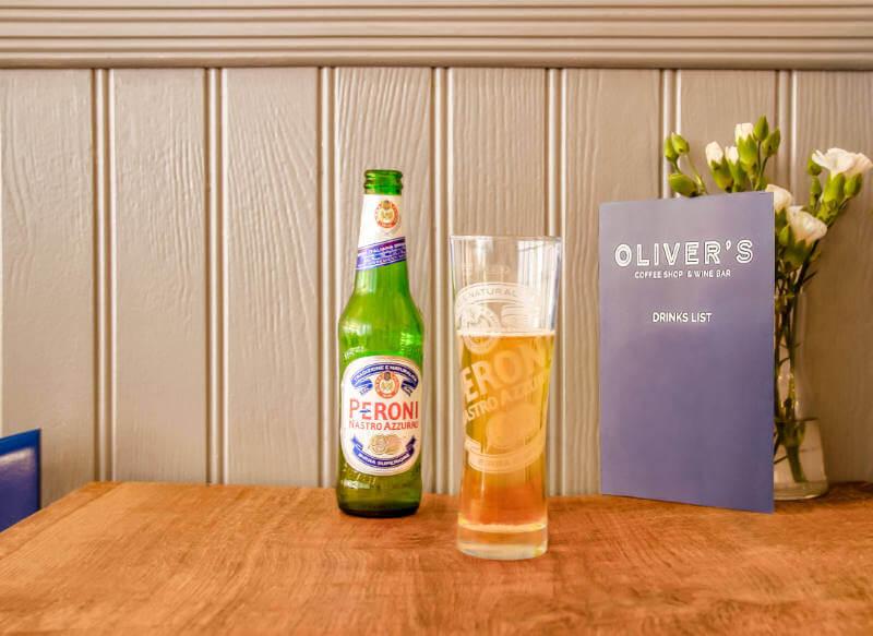 Image of Peroni beer at Olivers Wine Bar