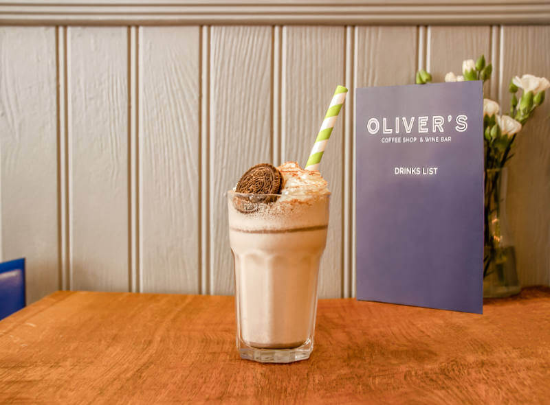 Image of a milkshake at Olivers Coffee Shop
