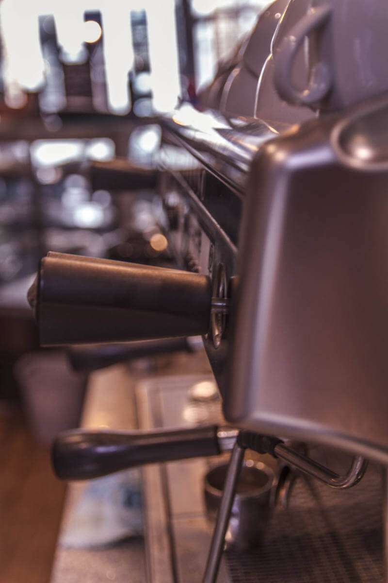 Image of a coffee machine at Olivers Coffee Shop