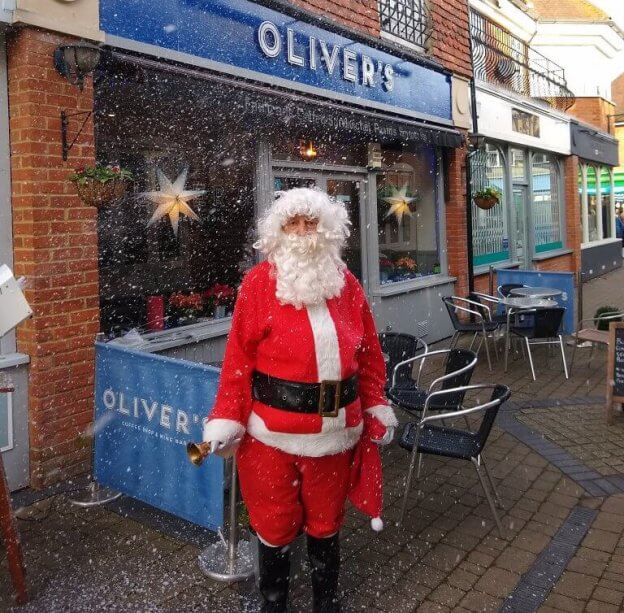 Father Christmas at Oliver's Coffee Shop